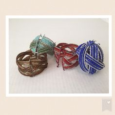 "Four adorable beaded cuff bracelets! Host Pick Four braided & beaded cuff bracelets. Expandable 8"" circumference fits any size. Red, dark blue, turquoise color and gold tone. A lovely wardrobe addition! Jewelry Bracelets"