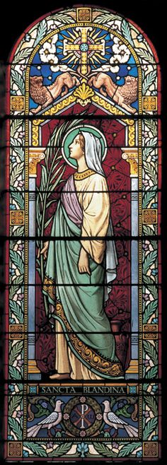 St Blandina (Blandine) Stained glass