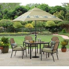 5Pc Patio Dining Set Faux Wood Table Adirondack Chairs Outdoor Garden Furniture #BetterHomesandGardens #Contemporary