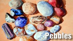 Online art class about Painting Pebbles in Watercolour. You can watch this class at any time, as often as you like. Art Lessons Online, Online Art Classes, Basket Tv, Gouache Tutorial, Painted Baskets, Pebble Painting, Seascape Paintings, Watercolor Paintings, Watercolours