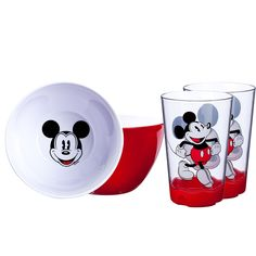 Licensed characters make mealtime fun! When one's in the dishwasher another one's ready to use! The 9oz tumbler has a non-skid base prevents spills. Slim tumbler style is easy for small hands to hold. Fun character on the bottom of bowl bright color outside. Sold in two packs packaged with gift tags and ribbons. Easy to clean - dishwasher safe