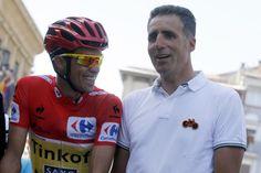 Vuelta a España 2014 - Alberto Contador (Tinkoff - Saxo) and Miguel Indurain