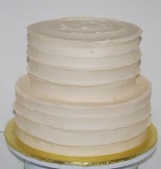 Ivory Buttercream Wedding Cake ~ NutMeg Confections