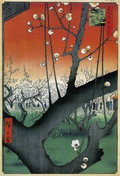 Japanese Art by UTAGAWA KUNISADA => A nice scene at dawn in autumn.