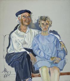 Linus and Ava Helen Pauling, 1969 oil on canvas 48 x 42 in. (121.9 x 106.7 cm) Copyright The Estate of Alice Neel, Courtesy L.A. Louver, Venice, CA.