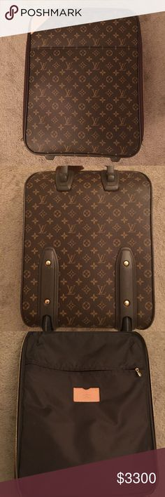 Louis Vuitton Pegase 45 Rolling Luggage Auth. My all time favorite model from the Louis Vuitton collection of travel.  So cute, so adorable, previously loved, from a none smoking and no pet home!  13.8inches (35cm) H	17.7inches (45cm) D	7.1inches (18cm)  ▫️▫️▫️▫️▫️▫️▫️▫️▫️▫️▫️▫️▫️▫️▫️▫️▫️ Louis Vuitton Bags Travel Bags