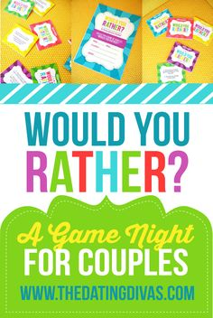 "How fun!  A date night edition of the game- ""Would You Rather.""  Just print!"