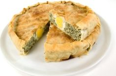 Pasqualina alla Genovese the Easter cake with spinach/artichoke, ricotta and eggs