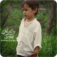 Melly Sews: Tab-Sleeve Tunic from the book Sewing for Boys