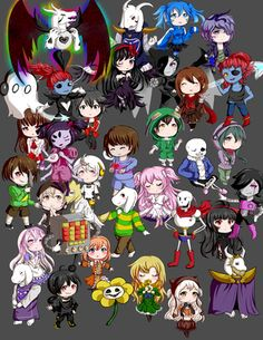 Image result for chibi undertale characters
