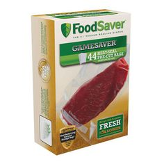 Protect fresh game and fish with the Foodsaver® GameSaver® Quart-Size Bags. These pre-cut bags contain specifically designed channels that allow for block oxygen and moisture.