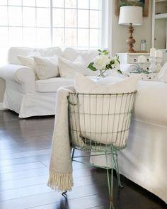 White Slip-covered Sofas