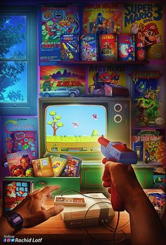 NES: Duck Hunt by HD File ready for printing in the form and size you want available on artist's store 😀… Classic Video Games, Retro Video Games, Video Game Rooms, Video Game Art, Arcade, Alter Computer, Arte Van Gogh, Culture Pop, Retro Videos