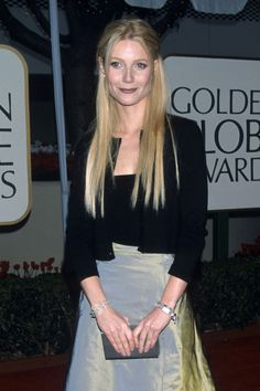 Gwyneth Paltrow at the Golden Globes in Los Angeles, January 1999.