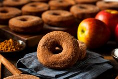 We can't think of a better way to celebrate than whipping up a batch of Apple. We can't think of a better way to celebrate 🍩 🍩 than whipping up a batch of Apple Cider Donuts to enjoy on this crisp fall day! Apple Cider Doughnut Recipe, Donut Recipes, Cooking Recipes, Bread Recipes, Cooking Tips, Gluten Free Vegan Donut Recipe, Apple Spice Cake, Apple Pie, Warm Apple Cider