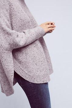 Anthropologie | Speckled Poncho Pullover