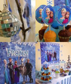Frozen Themed girl birthday party ideas!  See more party ideas at CatchMyParty.com!
