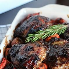 Mustard Balsamic Baked Chicken with Roasted Vegetables Recipe