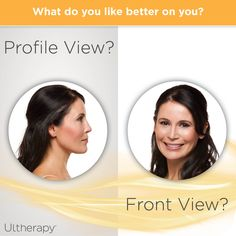 Do you look better from the side or front? Either way, #Ultherapy can help you refine under the chin! #ThisorThat