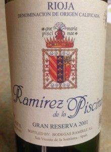 2001 Ramirez de la Piscina Gran Reserva