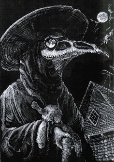 """""""In need of a plague doctor mask because I just want one"""" Images Terrifiantes, Plague Doctor Mask, Black Plague Mask, Black Plague Doctor, Doctor Tattoo, Satanic Art, Arte Obscura, Dark Art Drawings, Occult Art"""