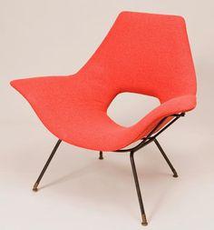Augusto Bozzi, Lounge Chair for  Saporiti, 1950s.