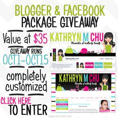 Blogger & Facebook package giveaway - beautiful customized graphics!
