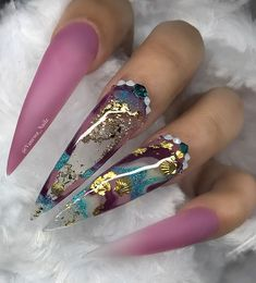 Regrann from - SWIPE ⬅️ Was feeling Mermaid Set 😍 ALL NEW COLORS Close to Releasing 😍😍😍 Nails by ‼️Check next post to see aquarium nail✨ Using My brand VN matte and shine no Cleanse gel 💅🏽💕 Glam Nails, Dope Nails, Neon Nails, Bling Nails, My Nails, Fancy Nails, Pastel Nails, Bling Nail Art, Nagellack Design