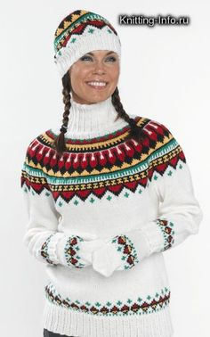As a kid I had this kind of sweater but blue was one of the color. Fair Isle Knitting Patterns, Fair Isle Pattern, Knitting Designs, Knit Patterns, Fair Isle Pullover, Norwegian Knitting, Knit Fashion, Baby Knitting, Christmas Sweaters