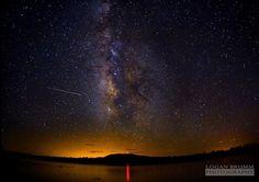 Milky Way over Lake Mary, near Flagstaff, Arizona. Flagstaff was the first International Dark Sky City, reflecting the city's work to curb light pollution. Image: Logan Brumm/Flickr
