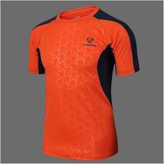 LS Brands men Tennis shirt Outdoor sports O-neck Quick Dry Breathable Running badminton men's Short-sleeve t-shirt tops tees