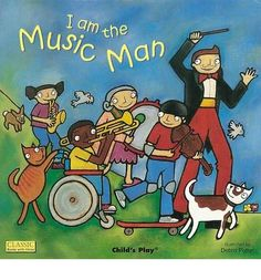Peer through the die-cut windows in each page of this interactive book to find out who is playing what.  Anyone can be the Music Man in this joyful adaptation of the classic nursery song, and everyone can join in making music together!