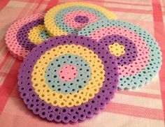 Spring Round Coasters Set of 4 by OtakuBeads on Etsy, $8.00
