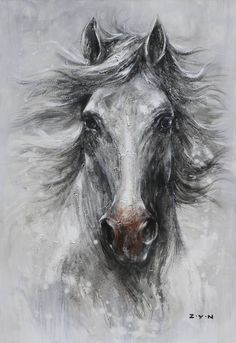 Hand Painted Horse Canvas Oil Painting For Home Decor , Find Complete Details about Hand Painted Horse Canvas Oil Painting For Home Decor,Horse Oil Painting,Canvas Oil Painting,Horse Oil On Canvas…More Horse Face Drawing, Horse Face Paint, Horse Drawings, Drawing Art, Horse Canvas Painting, Canvas Art, Knife Painting, Painting Trees, Canvas Size