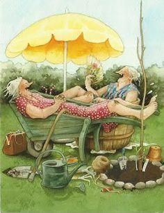 Inge Look   Old Ladies Gardening