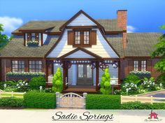 Sadie Springs is a family home built on a 40 x 30 lot in Newcrest. Found in TSR Category 'Sims 4 Residential Lots'