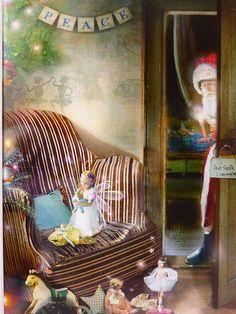 サンタ リメンバード【シャーロットバード ・フォトグラフ】 Charlotte Bird クリスマス絵画