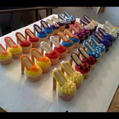 SHOE CUPCAKES for my SHOE ADDICTS Selling my favorites things SHOES The hardest listing to make but as I'm getting older I can't wear high heels so they got to move to a new Home so I will eat cupcakes in shape of my beloved SHOES VARY Shoes