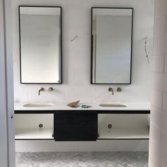Finishing off some joinery and plumbing tomorrow 🛁🚿 Finish Off, Carrara, Joinery, Plumbing, Double Vanity, It Is Finished, House Styles, Herringbone, Bathrooms
