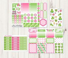 Frog Vertical Sticker Kit Planner Stickers Life by aHeartFeltLife