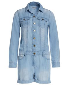MICHAEL Michael Kors Jeansoverall mit Knopfleiste - hellblau Jetzt auf kleidoo.de bestellen! #kleidoo #fashion #shop #online #overall #denim