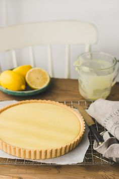 Creamy Lemon Tart - interesting, according to the Blog, basil can be added to lemon filling.
