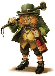 The Leprechaun is one of a race of creatures with origins in Irish mythology, legend and folklore. The leprechaun's most famous feature is it's green clothes. Even though this is so, the earliest legnds state that they also wore red coats. Evil Leprechaun, Leprechaun Tattoos, Leprechaun Pictures, Troll, Mago Tattoo, Illustration Photo, Irish Mythology, Irish Tattoos, Image Digital