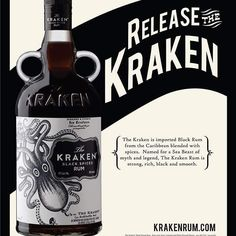 Weekend is here people and due to popular demand we must 'Release the Kraken' this is a beautiful dark Spiced Rum that must be tried. Being us as well will be creating a cocktail this weekend with it and an offer on all shots oh yeah. Here's to a 'Kraken' weekend to everyone. #thevapourybos  #thekraken  #shotsoclock  #youaskwedeliver