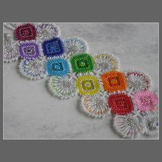 https://flic.kr/p/87XisA | Rainbow Cuff Bracelet | This is for the June 2010 Etsy Beadweavers' Challenge: Phenomenon