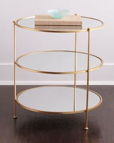 Blythe Side Table, Gold