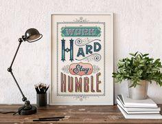 Work Hard, Be Humble - Cross Stitch Pattern (Digital Format - PDF)