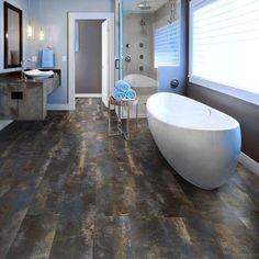 TrafficMASTER Allure Ultra Wide 8.7 in. x 47.6 in. Blue Concrete Resilient Vinyl Plank Flooring (20 sq. ft. / case)-252511 at The Home Depot