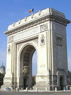 Arcul de Triumf - triumphal arch in Bucharest.The first, triumphal arch was built after Romania gained its independence (1878), so that the victorious troops could march under it. The current arch was built after the plans of the architect Petre Antonescu.The sculptures with which the facades are decorated were created by famous Romanian sculptors: Ion Jalea, Dimitrie Paciurea. Nowadays, military parades are held beneath the arch each 1 Dec, Romania's national day. #romania #bucharest