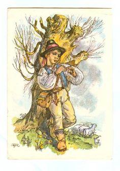 Antique Art, Vintage Antiques, Vintage Boys, Czech Republic, Vintage Postcards, Fairy Tales, Art Photography, Projects To Try, Easter